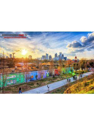 Atlanta Beltline & Midtown Atlanta Skyline Photo