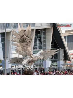 Mercedes Benz Stadium open house- Phoenix Sculpture