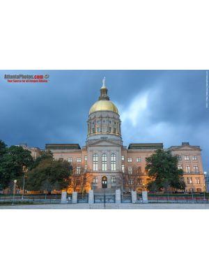Georgia State Capitol- Cloudy Sky