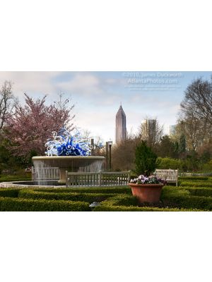Atlanta Botanical Garden- Fountain & Skyline II